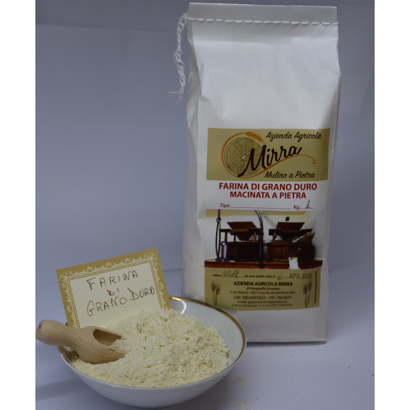 Durum wheat flour kg 1 - Az. Agr. Mirra