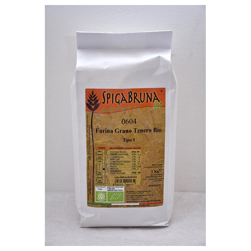 Organic Gentilrosso soft flour flour 1kg - SpigaBruna Bio