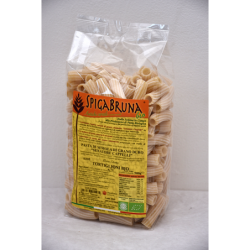 Organic artisanal pasta Tortiglioni Bio 500g Linea ELETTA - SpigaBruna Bio