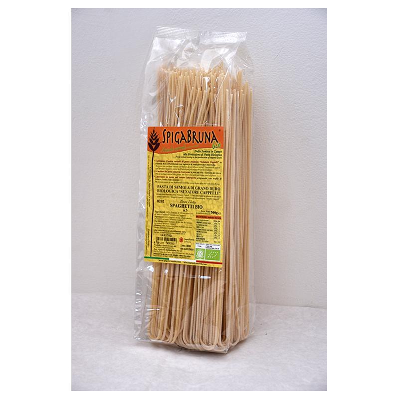 Organic artisanal pasta Spaghetti Bio 500g Linea ELETTA - SpigaBruna Bio