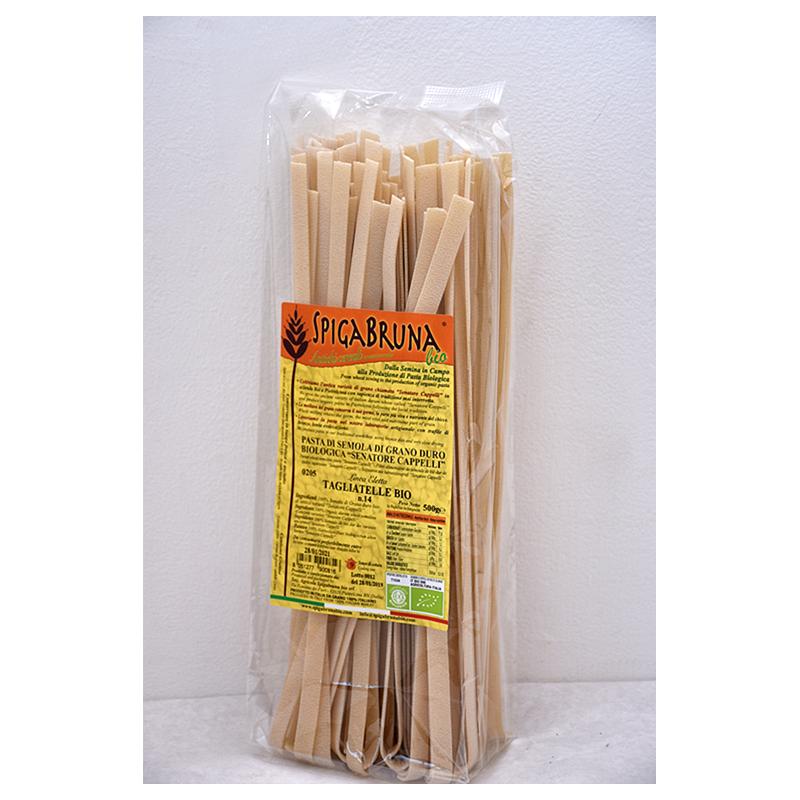 Organic artisanal pasta Tagliatelle Bio 500g Linea ELETTA - SpigaBruna Bio