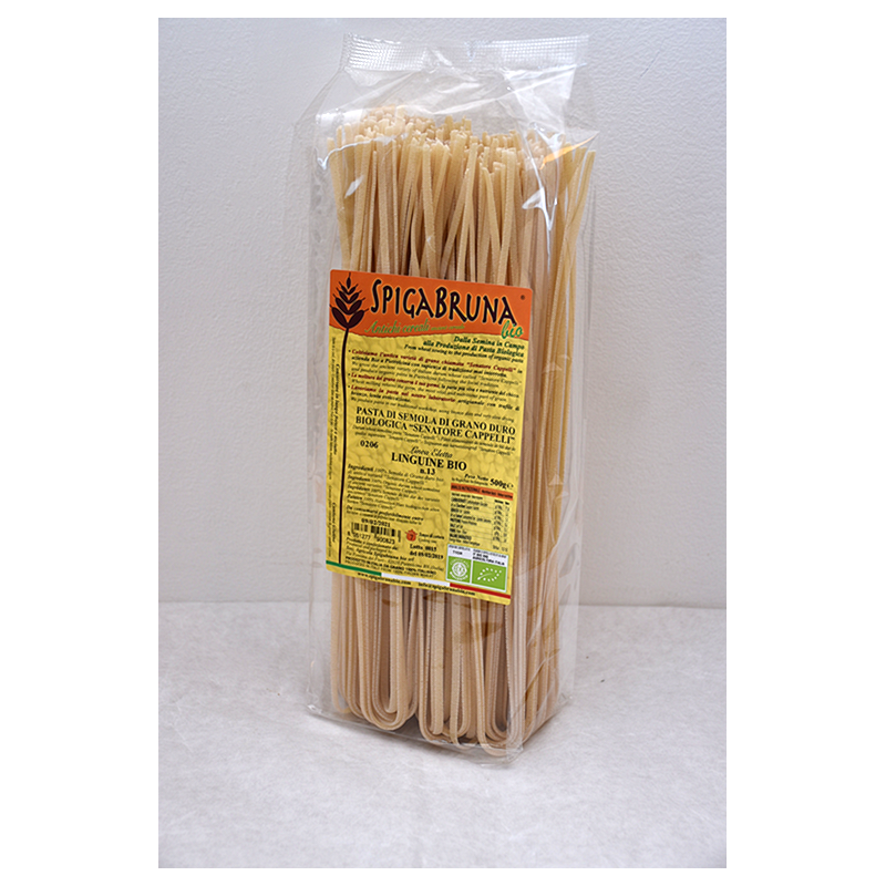 Organic artisanal pasta Linguine Bio 500g Linea ELETTA - SpigaBruna Bio