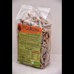 Organic artisanal wholemeal flour pasta Penne Bio 500g Linea SALUTE INTEGRALE - SpigaBruna Bio