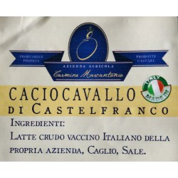 Caciocavallo aged 60 days - spicchio 250gr approximately - Marcantonio