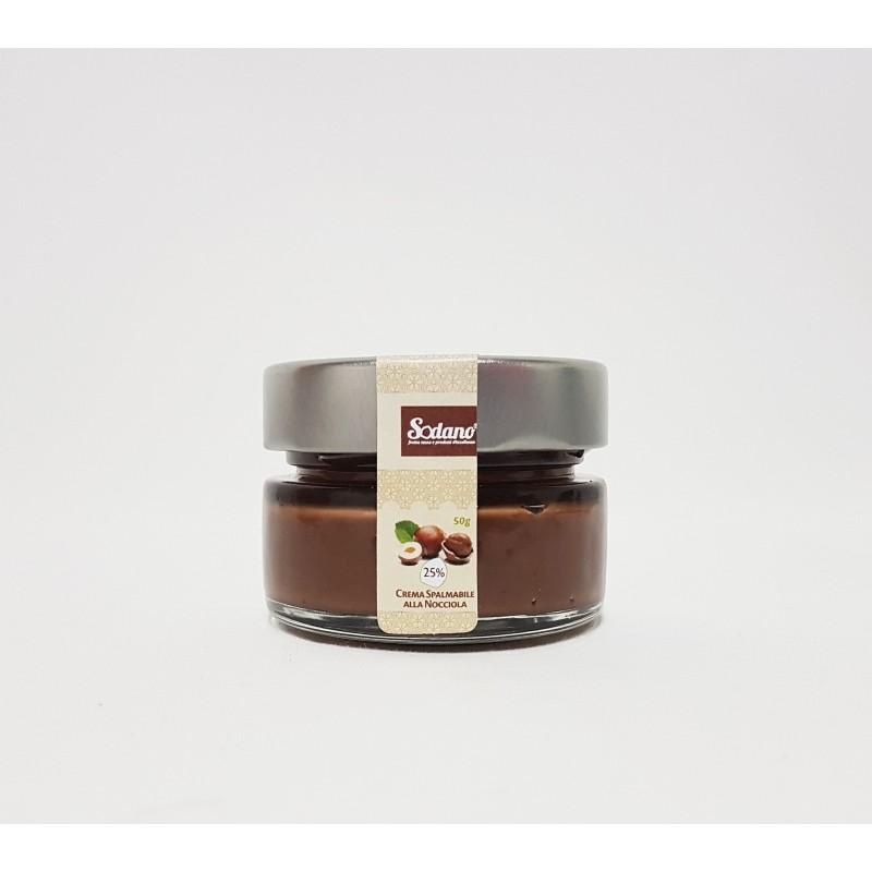 Crema spalmabile alla nocciola - vaso in vetro da 50g - Sodano