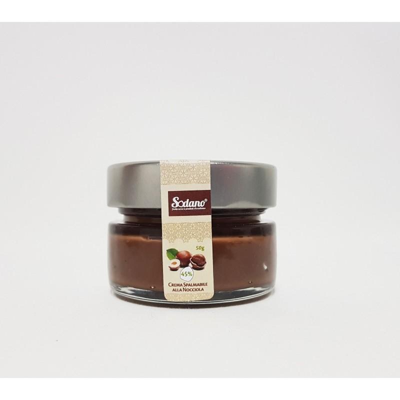 Crema artigianale 45% Nocciole - vaso in vetro da 50g - Sodano