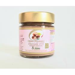 Crema bianca al 45% di nocciole - vaso in vetro da 250g - Sodano