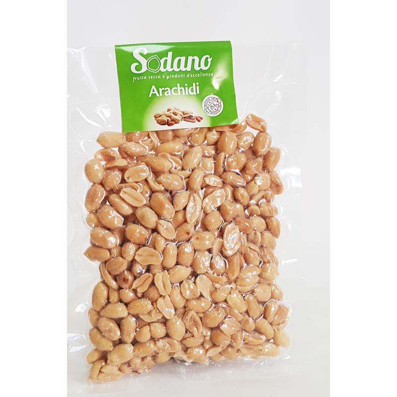 Arachidi sgusciate tostate salate - sottovuoto da 500g - Sodano