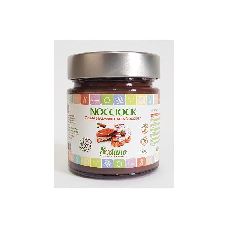 Nocciock - vaso in vetro da 250g - Sodano