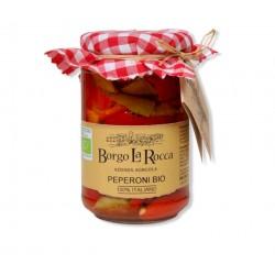 Peperoni sott'olio Bio gr 295 - Borgo La Rocca